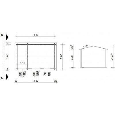 Bild 9 von Azalp Blockhaus Karlijn 450x300 cm, 30 mm