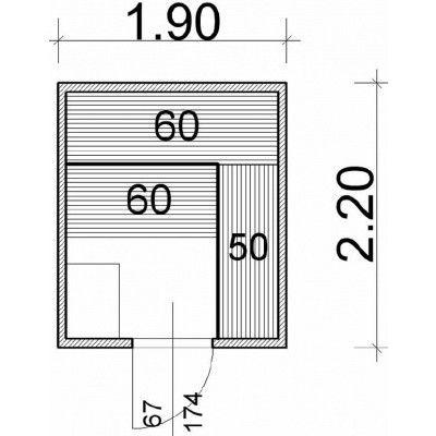 Afbeelding 43 van Azalp Massieve sauna Genio 190x220 cm, 45 mm