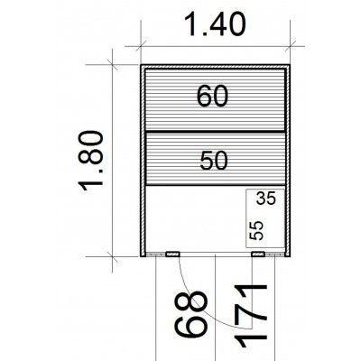 Afbeelding 5 van Azalp Massieve sauna Eva Optic 140x180 cm, 45 mm