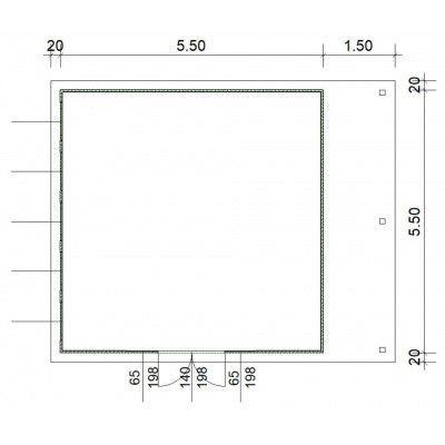 Afbeelding 3 van SmartShed Blokhut Isidro 550x550 cm, 30 mm