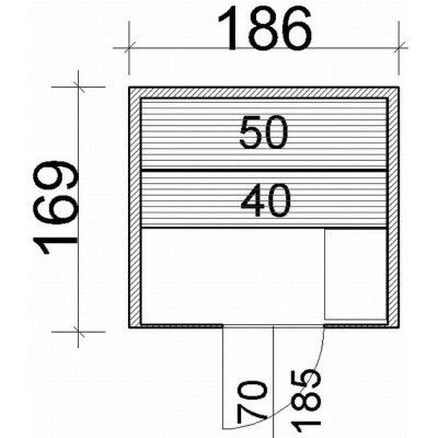 Afbeelding 64 van Azalp Lumen elementsauna 186x169 cm, elzen