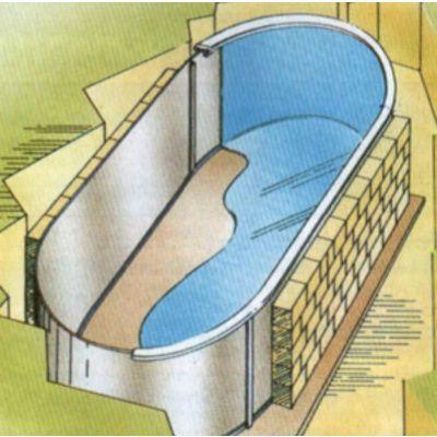 Afbeelding 2 van Trend Pool Tahiti 530 x 320 x 120 cm, liner 0,8 mm (starter set)