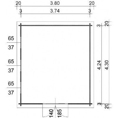 Bild 97 von Azalp Blockhaus Ingmar 400x450 cm, 30 mm
