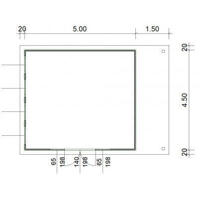 Bild 3 von SmartShed Blockhaus Isidro 500x450 cm, 45 mm