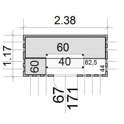 Afbeelding 13 van Azalp massieve sauna Alku 238x117 cm, 40 mm