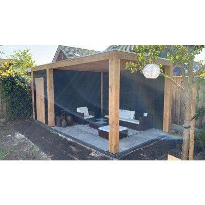 Afbeelding 5 van WoodAcademy Nefriet excellent Nero blokhut 580x400 cm