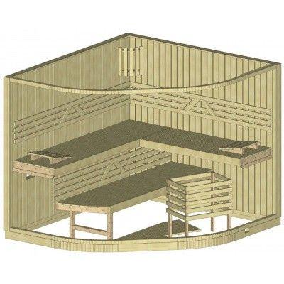 Bild 22 von Azalp Sauna Runda 237x220 cm, Fichte