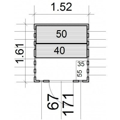 Afbeelding 14 van Azalp massieve sauna Alku 152x161 cm, 40 mm