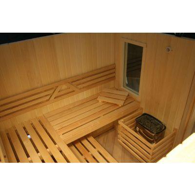 Afbeelding 13 van Azalp Saunabank recht, Elzen breedte 70 cm