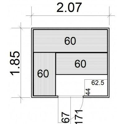 Afbeelding 5 van Azalp Massieve sauna Rio Standaard 207x185 cm, 39 mm OP=OP