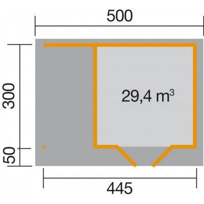 Afbeelding 2 van Weka Designhuis 126 A Gr.2, 445x300 cm antraciet