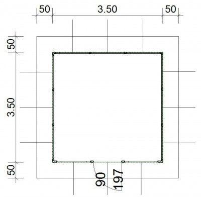 Afbeelding 4 van SmartShed Blokhut Amando 350x350 cm, 45 mm