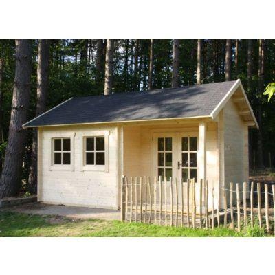 Afbeelding 2 van Azalp CLASSIC blokhut Cottage Style Cumberland 520x430 cm, 45 mm