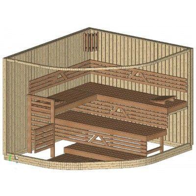 Bild 14 von Azalp Sauna Runda 263x237 cm, Espenholz