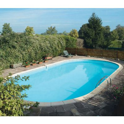Bild 9 von Trend Pool Beckenrandsteine Tahiti 800 x 400 weiß (für Ovalbecken)