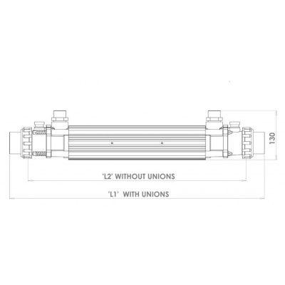 Afbeelding 9 van Elecro Engineering G2, 122 kW Titanium warmtewisselaar