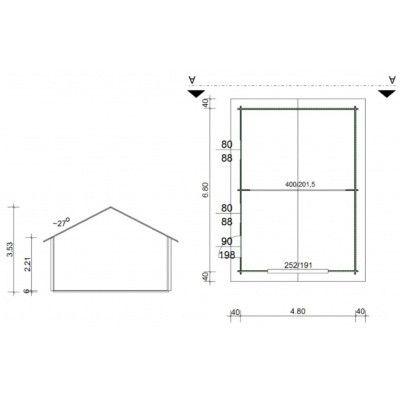 Afbeelding 10 van Azalp Garage Thomas 500x700 cm, 60 mm