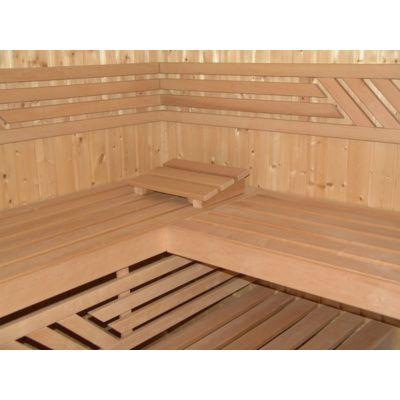 Afbeelding 2 van Azalp Saunabank recht, Elzen breedte 60 cm