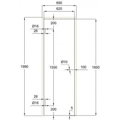 Afbeelding 7 van Ilogreen Saunadeur Trend (Vuren) 199x69 cm, melkglas