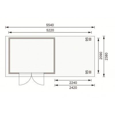 Afbeelding 2 van Woodfeeling Askola 4 met veranda (77732)