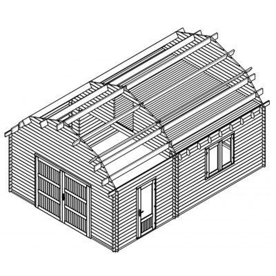 Afbeelding 12 van Graed Mississippi Garage 500x595 cm, 44 mm