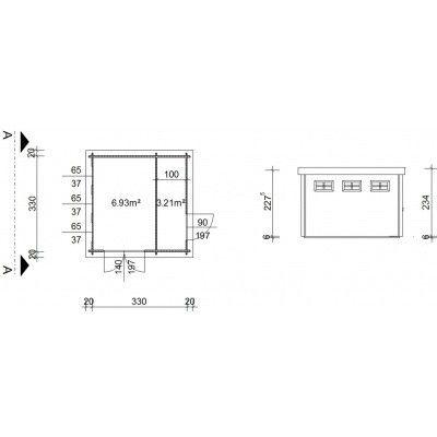 Bild 19 von Azalp Blockhaus Lars 350x350 cm, 30 mm