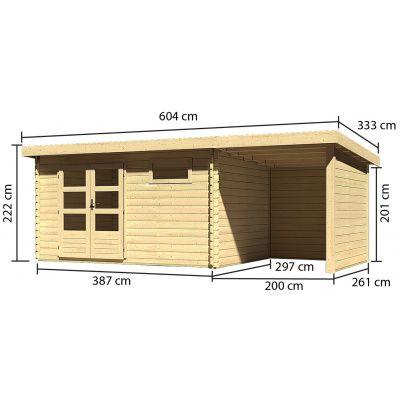 Afbeelding 3 van Woodfeeling Bastrup 8 met veranda 200 cm (78676)