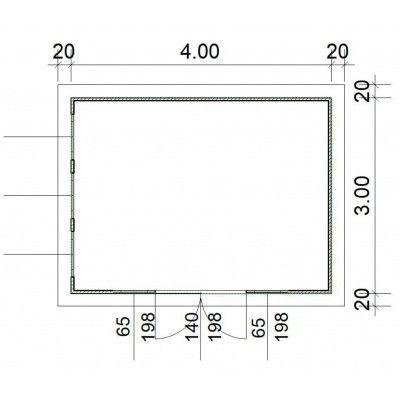 Afbeelding 2 van SmartShed Blokhut Zenon 400x300 cm, 30 mm