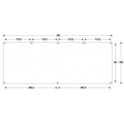 Afbeelding 4 van WoodAcademy Graniet excellent Nero blokhut 780x300 cm