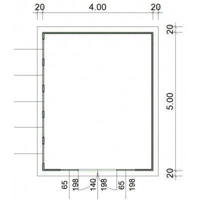 Bild 2 von SmartShed Blockhaus Zenon 400x500 cm, 30 mm