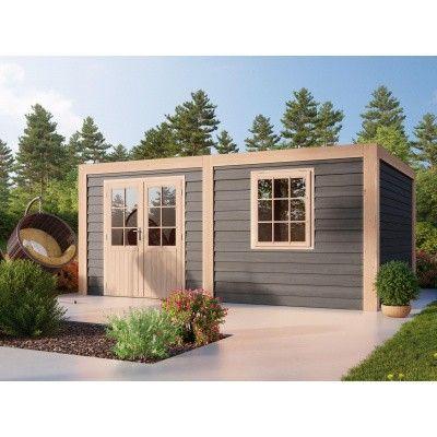 Hauptbild von WoodAcademy Borniet Excellent Nero Gartenhaus 680x300 cm