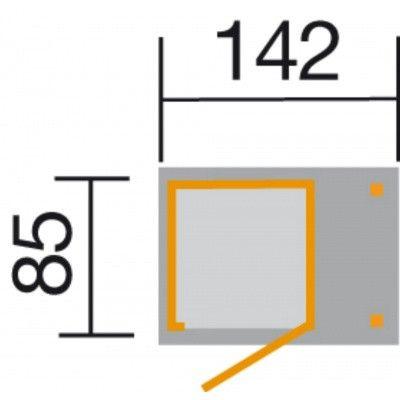 Afbeelding 2 van Weka Tuin- en terraskast Gr.1 14 mm zadel + zijluifel