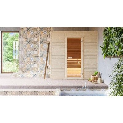 Afbeelding 3 van Azalp Massieve sauna Eva 240x220 cm, 45 mm