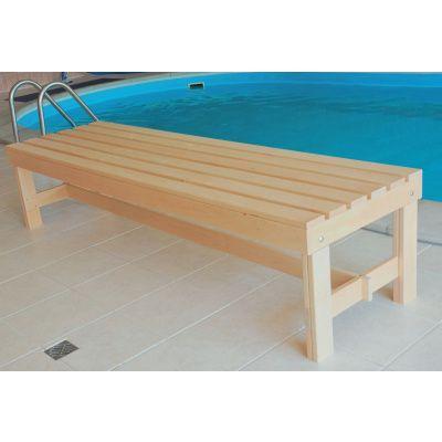 Afbeelding 2 van Azalp Saunabank vrijstaand, Elzen breedte 60 cm