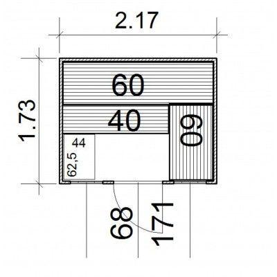 Afbeelding 3 van Azalp Massieve sauna Rio Optic 217x173 cm, 39 mm