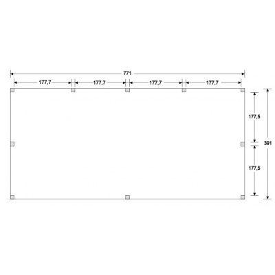 Afbeelding 5 van WoodAcademy Nobility Nero Tuinhuis 800x400 cm