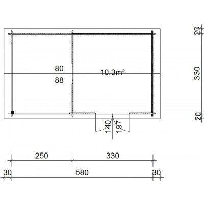 Bild 38 von Azalp Blockhaus Marnix 600x350 cm, 45 mm