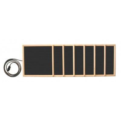Hoofdafbeelding van Inframagic Houtraam met frame verticaal voor Plateheater 102x34 cm*