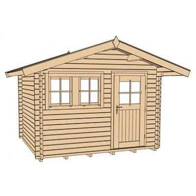 Bild 3 von Weka Gartenhaus 139A Gr. 3 mit Vordach 60cm