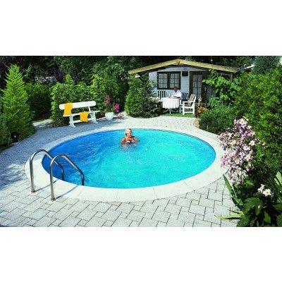 Afbeelding 3 van Trend Pool Boordstenen Ibiza 400 wit (complete set rond)