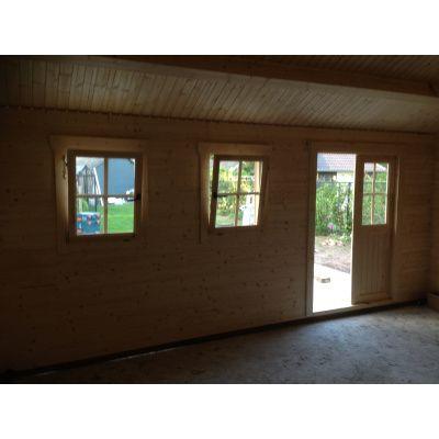 Bild 23 von Azalp Blockhaus Lynn 450x450 cm, 30 mm