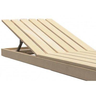 Afbeelding 2 van Azalp Saunabank verstelbaar, Abachi breedte 60 cm