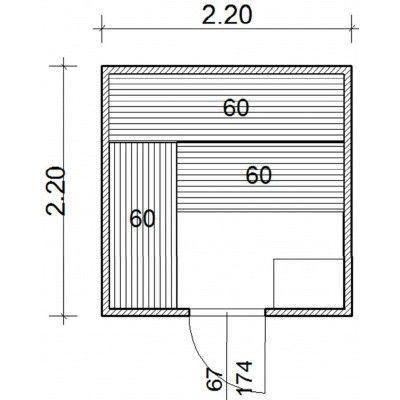 Afbeelding 43 van Azalp Massieve sauna Genio 220x220 cm, 45 mm