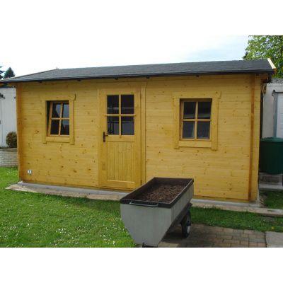 Bild 9 von Azalp Blockhaus Mona 350x300 cm, 45 mm
