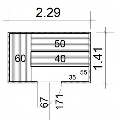 Afbeelding 5 van Azalp Massieve sauna Rio Standaard 229x141 cm, 39 mm