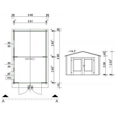 Afbeelding 63 van Azalp Garage Thijs 380x600 cm, 45 mm