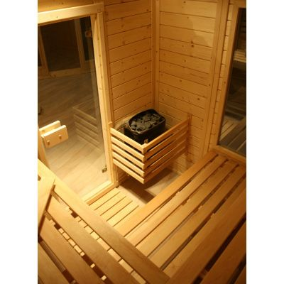 Afbeelding 16 van Azalp Massieve sauna Genio 166x166 cm, 45 mm