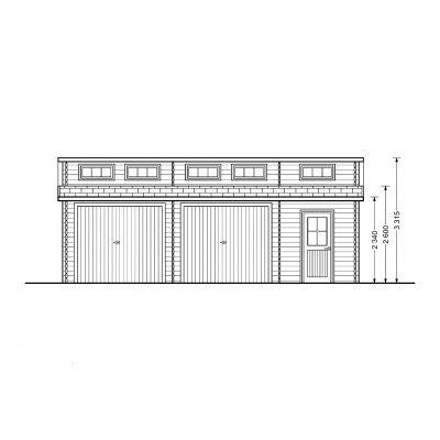 Afbeelding 6 van Graed Modern Garage 600x800 cm, 44 mm