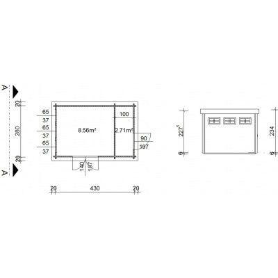 Bild 19 von Azalp Blockhaus Lars 450x300 cm, 45 mm