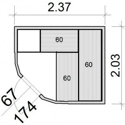 Afbeelding 12 van Azalp Sauna Runda 237x203 cm elzen